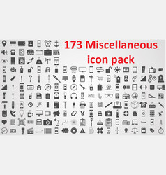 miscellaneous icon pack sign ssymbols vector image
