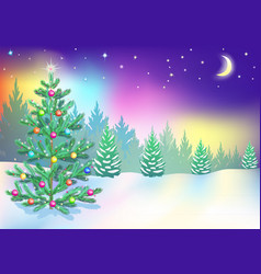 New year northern lights vector