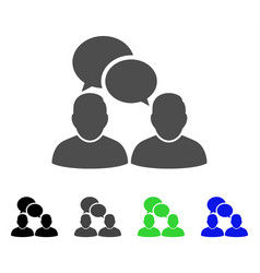 People dialog flat icon vector