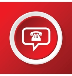 Phone message icon on red vector