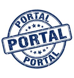 Portal blue grunge stamp vector