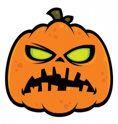 pumpkin zombie vector image