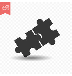 puzzle icon simple flat style vector image
