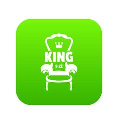 royal armchair icon green vector image