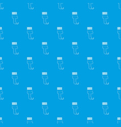 scanner pattern seamless blue vector image
