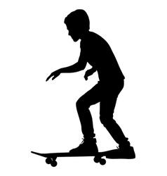 Skateboarders silhouette vector