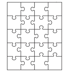 Small white puzzle vector