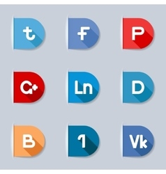 Social media labels vector image
