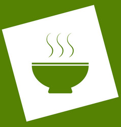 soup sign white icon obtained as a result vector image