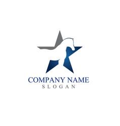Star horse logo vector