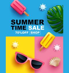 Summer sale banner layout design poster vector