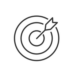 Target line icon on a white background vector