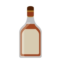 tequila bottle alcoholic beverage vector image