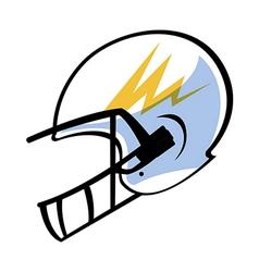 The helmet vector image