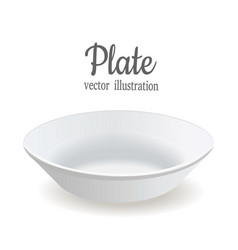 the plate is deep white plate vector image