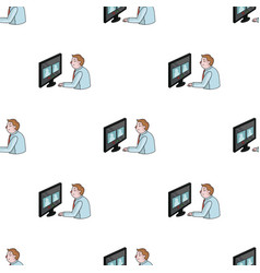 video conference icon in cartoon style isolated on vector image