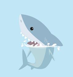 Vivid shark in the sea vector