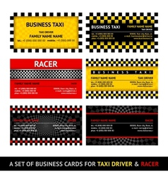 Business card taxi - eleventh set vector image vector image