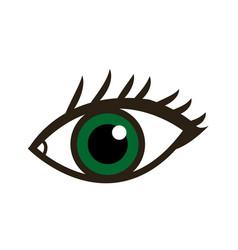 cartoon eye human vision look watch icon vector image vector image