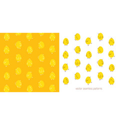 easter seamless pattern with chicks vector image