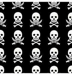 pirate skulls pattern vector image vector image