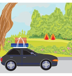 traveling in a car vector image