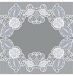 Background with white lace It can be used as a vector image vector image