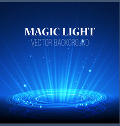lights on blue background abstract magic vector image vector image