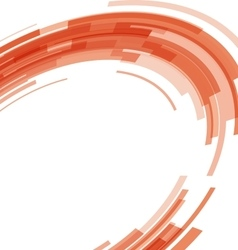 Abstract orange technology circles distorted vector image vector image