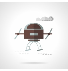 Air drone flat color icon vector image