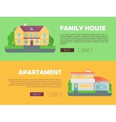 Family House Concept Modern Apartment Concept vector image vector image