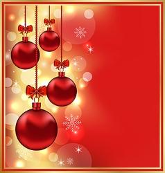 Holiday Christmas balls vector image