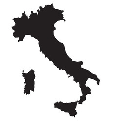 Italy map2 resize vector image vector image