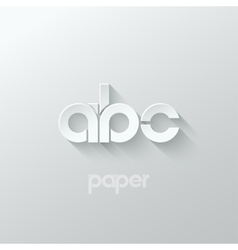 letter A B C logo alphabet icon paper set vector image vector image