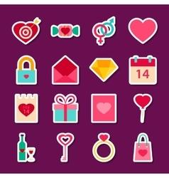 Love Valentine Day Stickers vector image