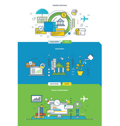 methods of payment the investment and management vector image vector image