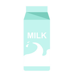 milk paper pack with milky splash flat vector image vector image
