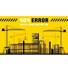 Under Construction site 404 page template vector image