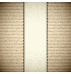 Background with cardboard vector image vector image