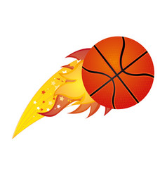 colorful olympic flame with basketball ball vector image vector image