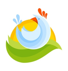 Farm chicken symbol icon vector image