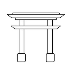 gate japanese monument outline vector image