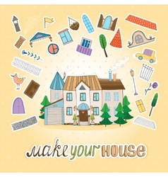 Make Your House vector image vector image