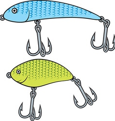 Set of Fish Bait Icons vector image vector image