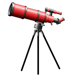 a telescope on a white background vector image