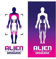 Alien in disguise concept volume 1 set vector