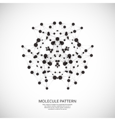 background pattern network Design dots and vector image vector image
