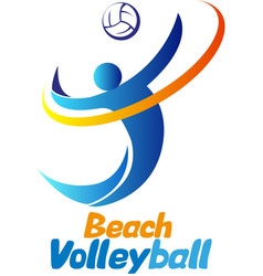 beach volleyball event vector image