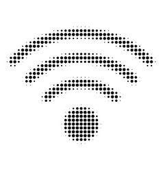 Black pixel wi-fi source icon vector