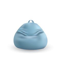 Blue lazy bag vector